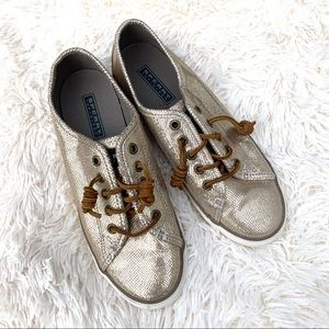 Sperry Seacoast Gold Boat Shoes